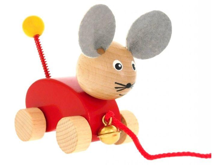 Dřevěná tahací hračka pro děti od 1 roku