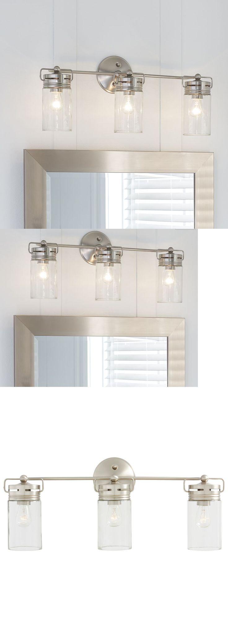 Wall Fixtures 116880: Allen + Roth Vanity Light Bathroom Lighting Fixture Brushed Nickel 3 Light New -> BUY IT NOW ONLY: $104.79 on eBay!