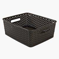 Úložný box ARNOLD Š30×D36×V14 cm hnědá