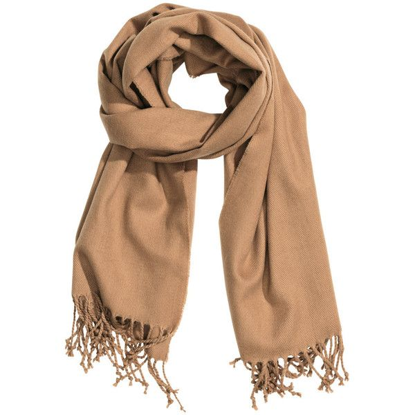 H&M Fringed scarf ($12) ❤ liked on Polyvore featuring accessories, scarves, h&m, beige, fringe scarves, fringed shawls, short scarves and h&m scarves