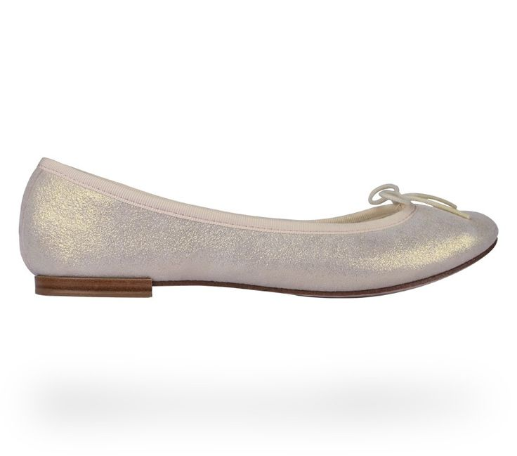 Ballerina Cendrillon Spirit White Metallic Goatskin Suede by Repetto. #Repetto #Wedding #WeddingShoes #Metallic #White #WhiteShoes #MetallicShoes #WhiteMetallic