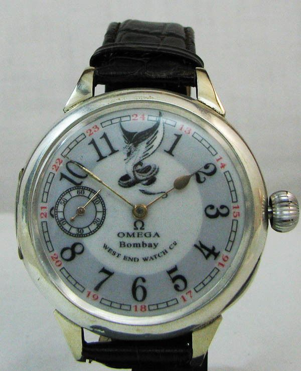 Omega Bombay West End Watch Co Antique 1890's Mens Silver Watch #Omega