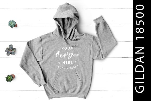 Download Sport Grey Gildan 18500 Hoodie Mockup Graphic By Lockandpage Creative Fabrica Clothing Mockup Design Mockup Free Free Psd Design