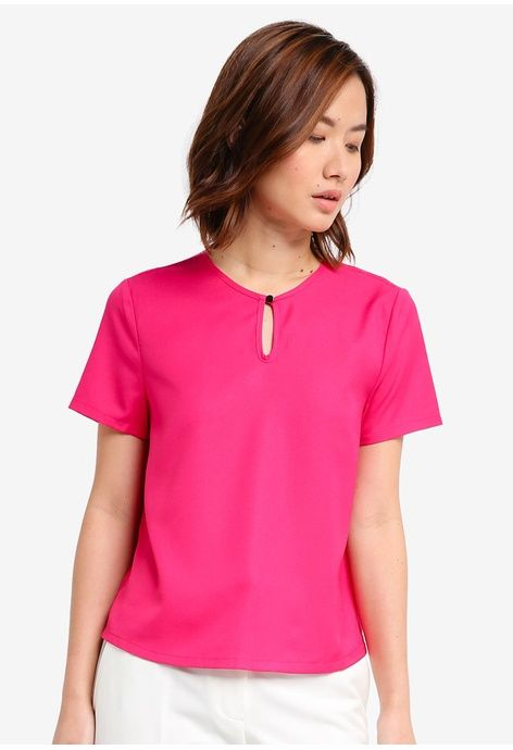 0ff83248c1d89 Keyhole Top from ZALORA in pink 1