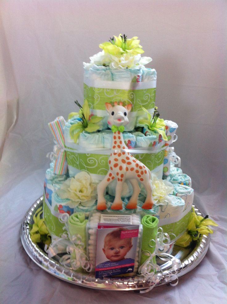 Gâteau de couches Sophie la girafe