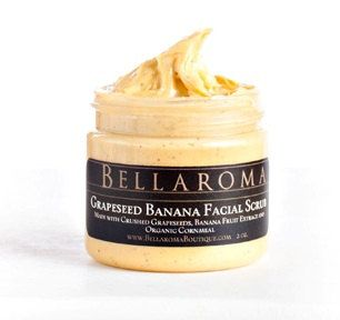 Grapeseed Banana FACIAL SCRUB As seen in by BellaromaBoutique, $10.50