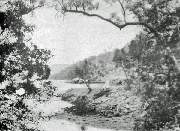 c1900 at Bobbin Head showing the original boathouse. This was taken before any of the landfill was added to make Orchard park and the other recreation areas.