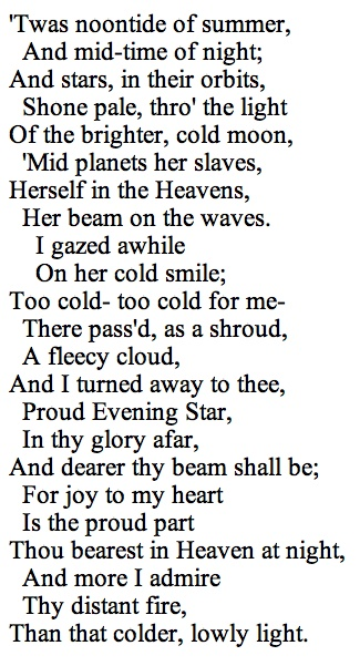 evening star edgar allan poe <3 (one of my faves!)