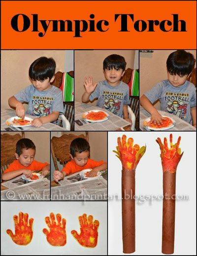 Olympic Craft for Kids: Handprint Torch