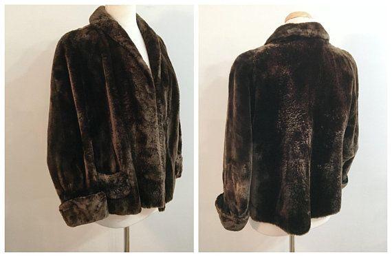 Vintage TEDDY BEAR FUR Coat / size Medium-Large
