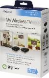 """MyWirelessTV Wireless HDMI Kit - I used this when mounting smart tv above fireplace it successfully hides wires by eliminating the need for direct connection to the tv! I did hire an electrician to install an electrical outlet above fireplace....if only """"My Wireless Plug"""" came in a box..."""