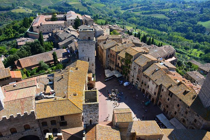 The walls, towers and inner city of San Gimignano, Tuscany, Italy