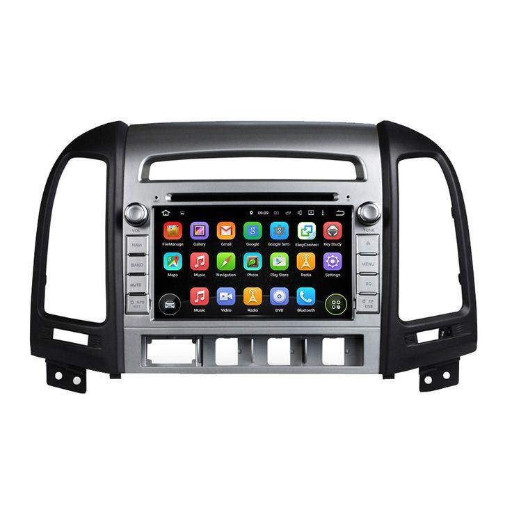 for hyundai SANTA FE 2006-2011 android 5.1.1 system HD 1024*600 car dvd player gps navigation radio 3G wifi dvr free map camera