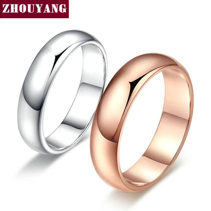 Eenvoudige Stijl Rose Vergulde Sieraden Bruiloft Paar Ring Volledige Maten Groothandel Top Kwaliteit R049 R050