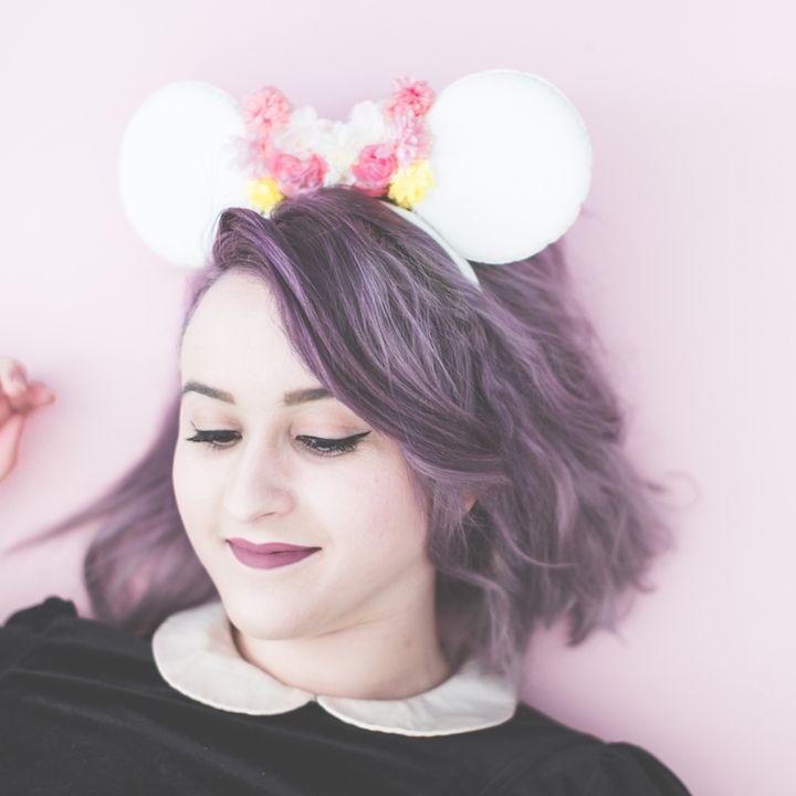 Minnie ears & Kat Von D make up