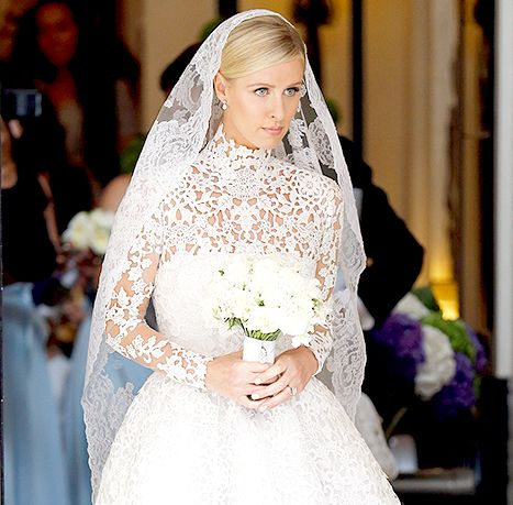 Nicky Hilton seen leaving Claridge's Hotel on her wedding day on July 10.