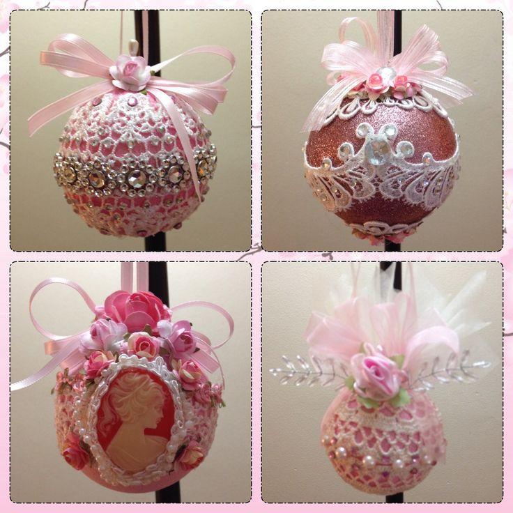 Handmade shabby chic ornaments