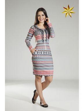 Vestido Tribal Laranja Hapuk 58738 Outono/Inverno 2015 - Estrela Evangelica