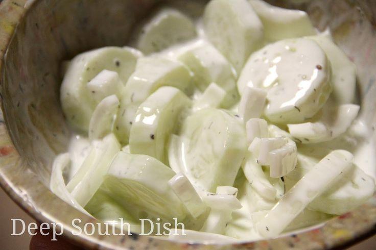 Deep South Dish: Sour Cream Cucumber and Onion Salad