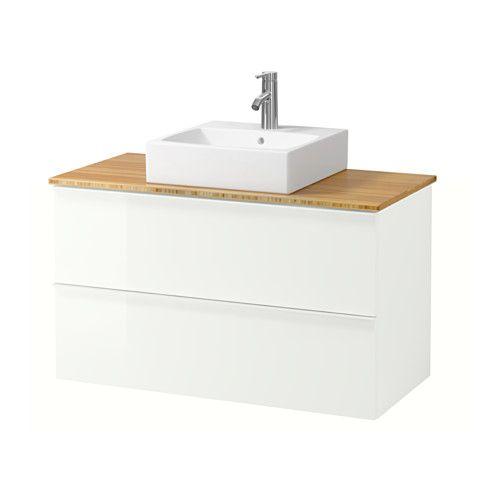 GODMORGON/ALDERN / TÖRNVIKEN Wastafelcombi 45x45 v bovenblad IKEA Gratis 10 jaar garantie. Raadpleeg onze folder voor de garantievoorwaarden.