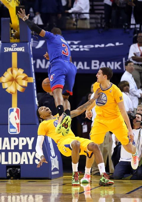 Golden State Warriors Kent Bazemore, Los Angeles Clippers Chris Paul, Klay Thompson