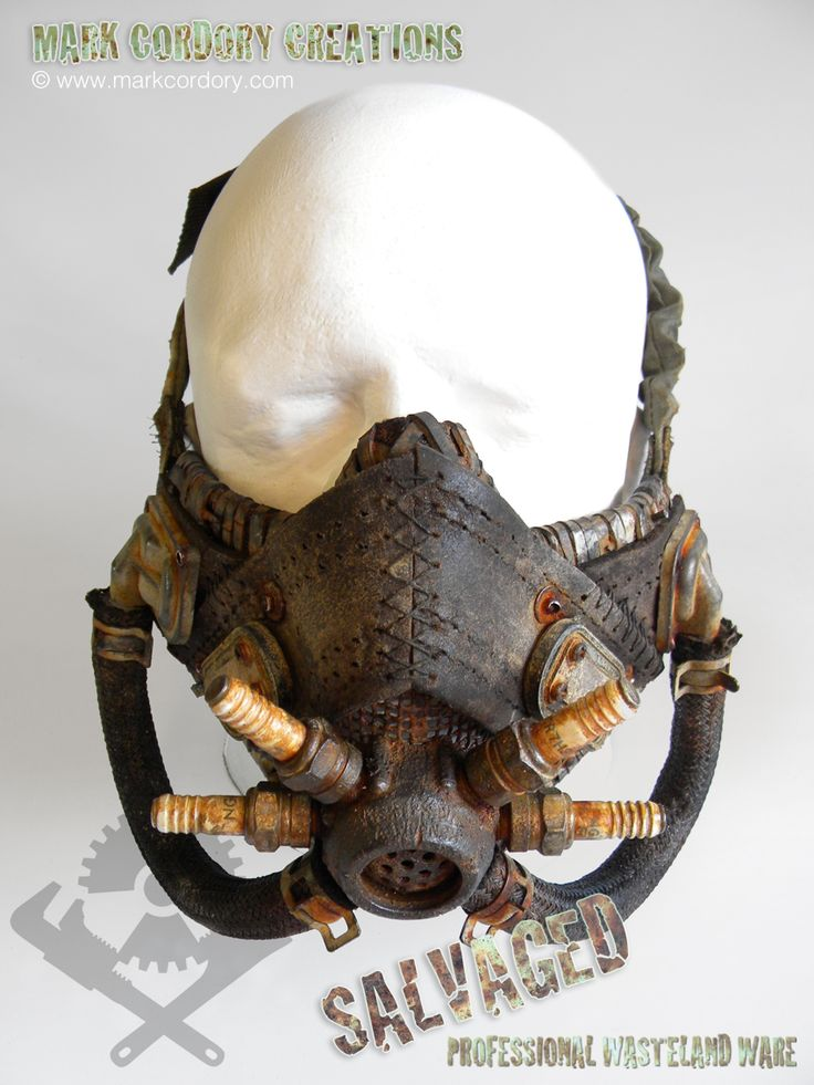 Post Apocalyptic costume - gas mask made for Airsoft LARP. Commission enquiries always welcome @ www.markcordory.com