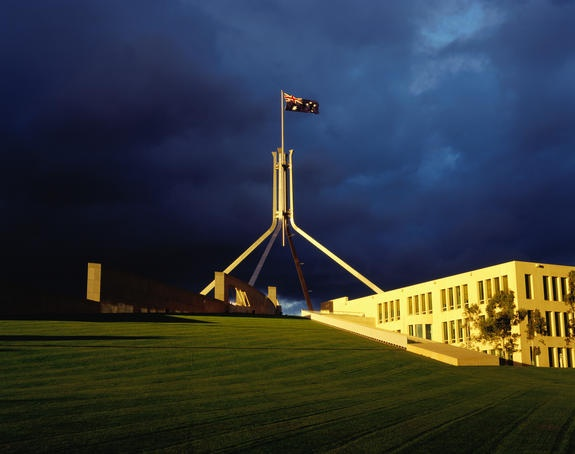 "Parliament House, Canberra....Canberra was a very planned city, everything there was ""manicured"" gardens, nice flat street, hilly roads...and quiet..."