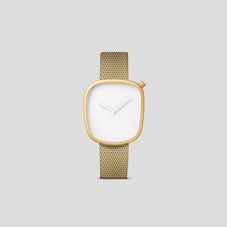 MATTE, GOLDEN STEEL ON A GOLDEN, MILANESE STEEL BRACELET FROM VOLLMER.   Say hello to the new, luxury-tinted Bulbul watch: Pebble 08.   Pebble 08 is a striking update on the classic, asymmetric Pebble shape with a touch of old-world charm. Featuring matte, golden steel on a golden, Milanese mesh band from Pforzheim-based manufacturer, Vollmer, Pebble 08 makes an eye-catching, golden addition to the Pebble collection.