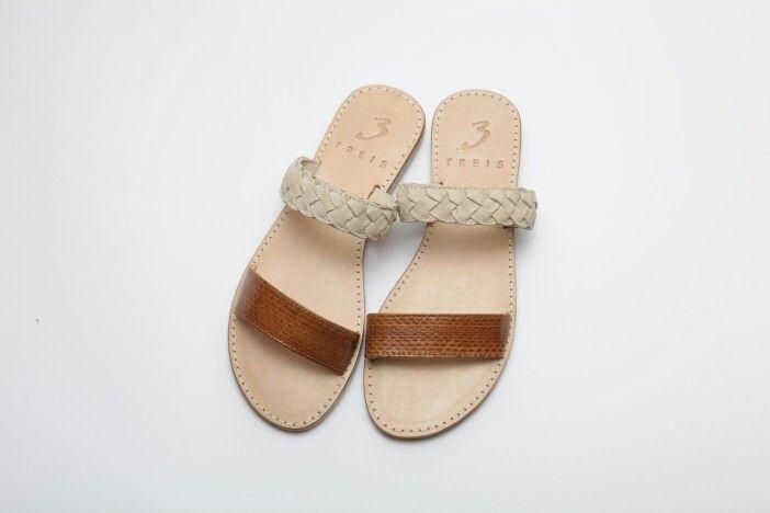 amaryllis brown ( handmade leather sandal )