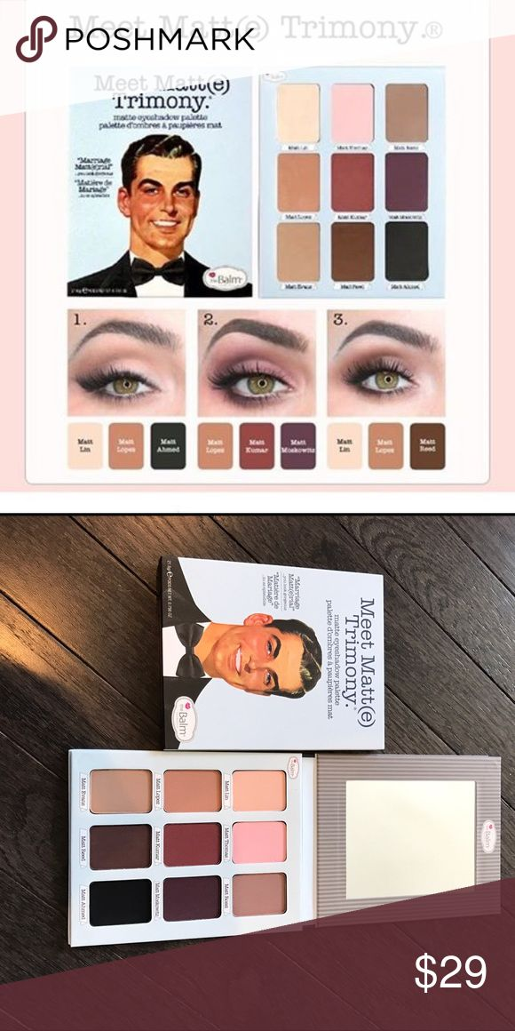 ⏰LAST ONE⏰The Balm Eyeshadow Palette Meet Matt(e) Trimony Palette. Neutral Eyeshadow palette Sephora Makeup Eyeshadow