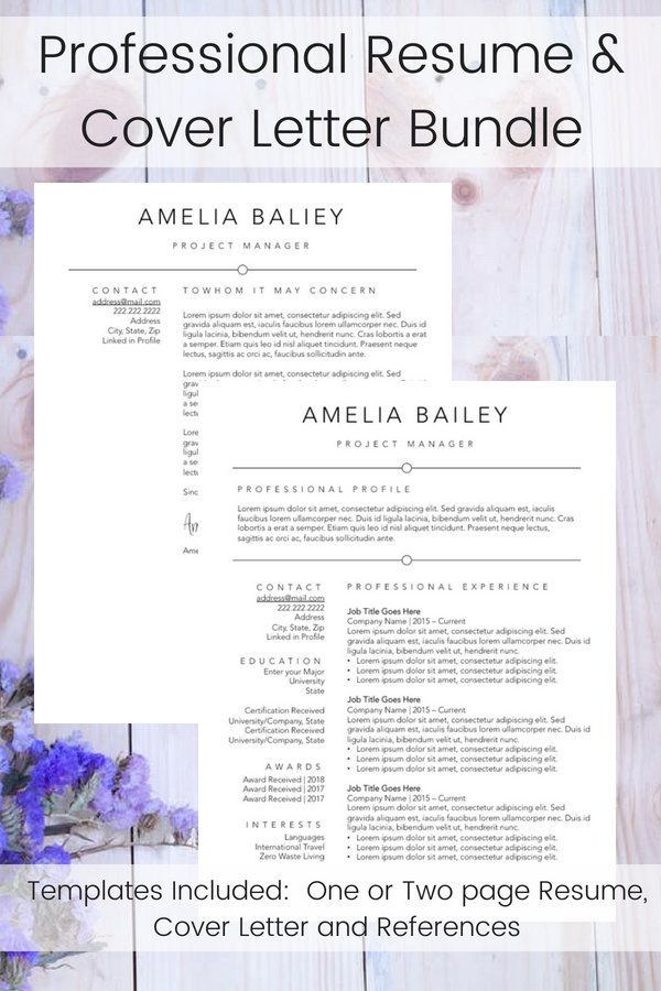 Minimalist Resume Template Simple Resume for Career Change