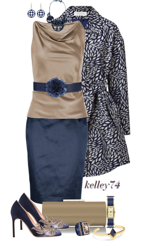 """""""Khaki and Blue"""" by kelley74 ❤ liked on Polyvore"""