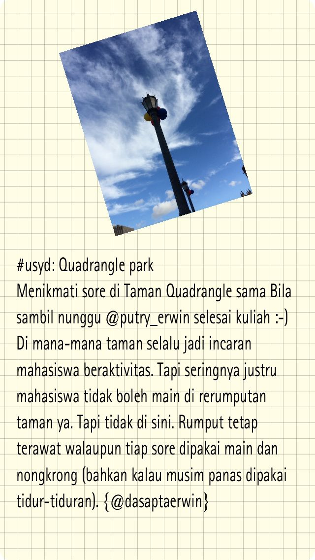 #usyd: Quadrangle Park | -- Dasapta Erwin Irawan --