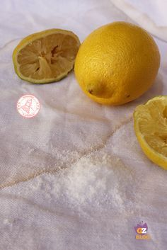 SMACCHIARE IN MODO NATURALE con sale limone aceto bicarbonato