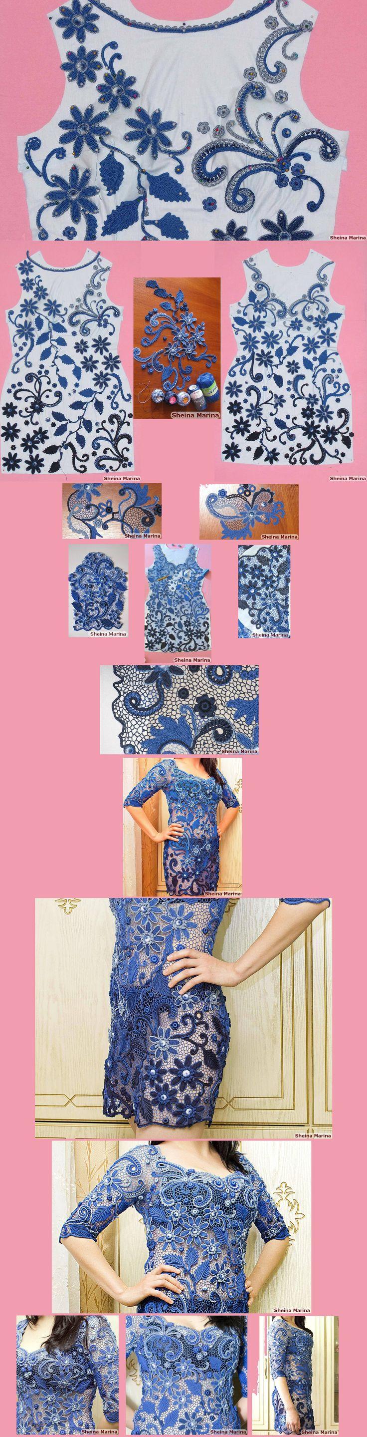 Платье, связанное на заказ «Магия ночи»