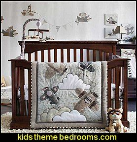 Airplane Baby Crib Nursery Bedding