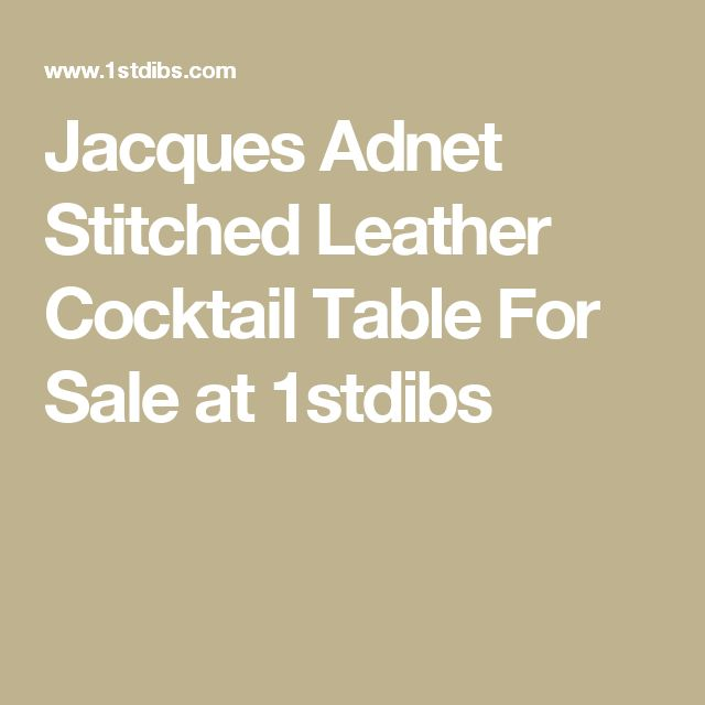Jacques Adnet Stitched Leather Cocktail Table For Sale at 1stdibs