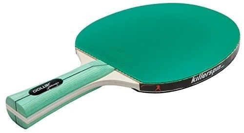Table Tennis Paddle Racket Lightweight Wood Green Rubber Backing