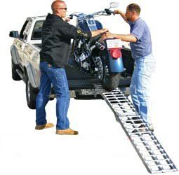 """The VMRPS-AF-9012-HD is a single 90"""" long folding motorcycle loading ramp with a heavy duty 1500 lb. capacity to easily load any size bike from a small dirt bike to a large cruiser. Heavy Duty folding Motorcycle Ramps."""