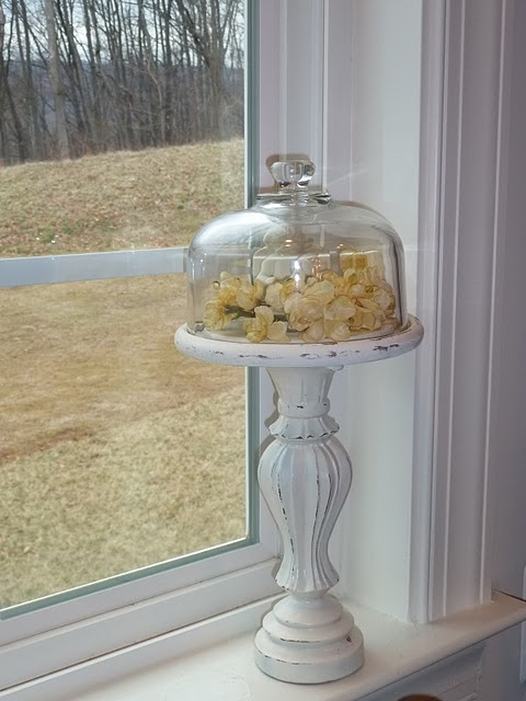 Pedestal Cloche ~ Glass Cheese Dome + Candlestick DIY