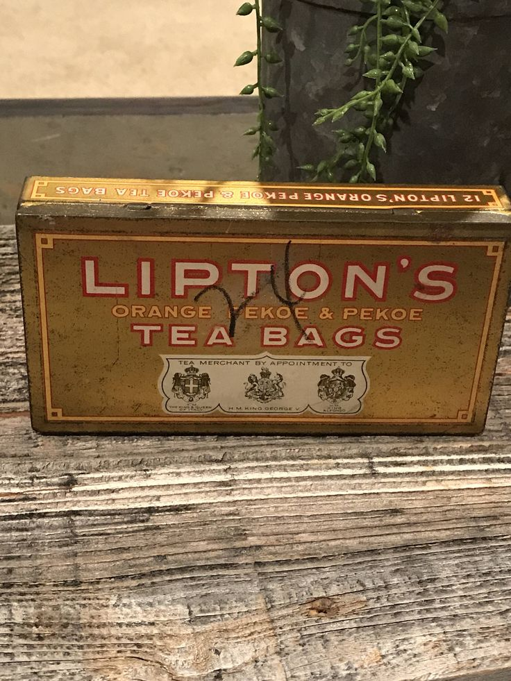 A personal favorite from my Etsy shop https://www.etsy.com/listing/573077561/vintage-lipton-tea-bags-metal-tin-held