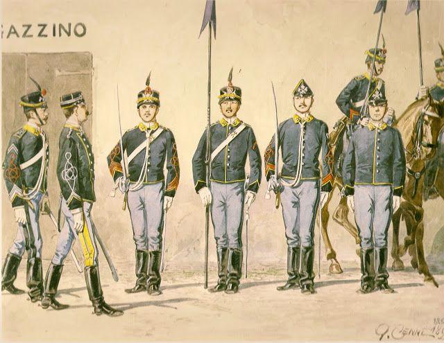 """Regio Esercito - Reggimento Lancieri """"Vittorio Emanuele III"""", 1884-1889"""