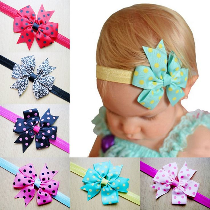 >> Click to Buy << 2016 New Fashion Style Polka Dot Butterfly Knot Flower Headband Delivered Color Randomly Children Flower Hairband #Affiliate