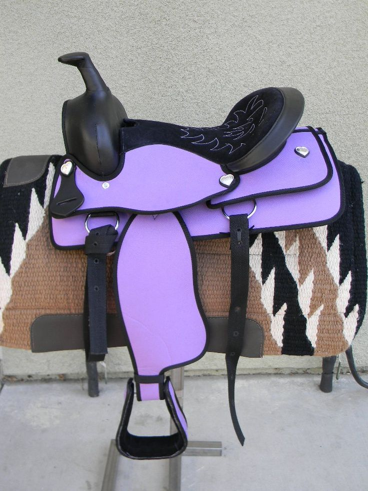 "colorful pictures of western saddles | ... .com - 15"" NEW PURPLE SYNTHETIC WESTERN SADDLE NO RESERVE"