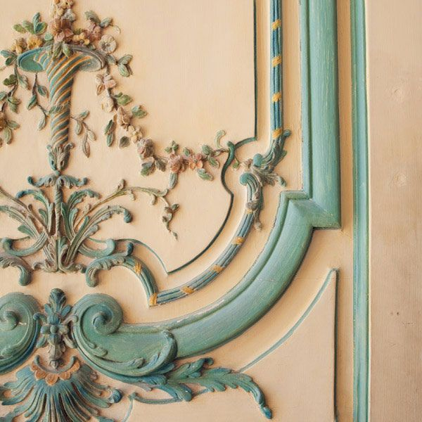 {great love stories № 06 | napoleon bonaparte & maria walewska} by {this is glamorous}, via Flickr door molding floral blue