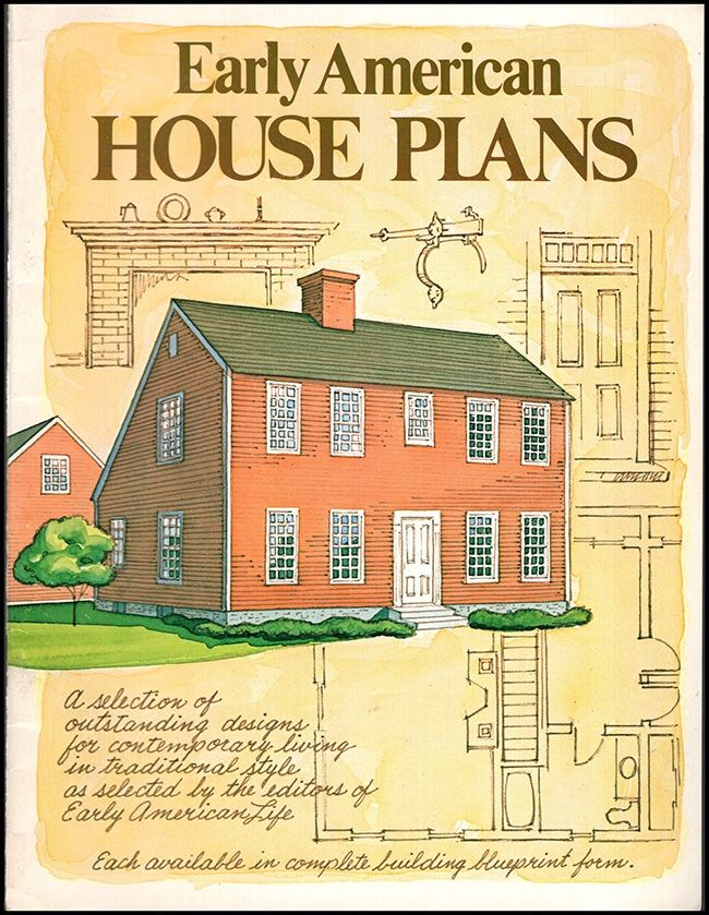 Early American House Plans American Houses House Plans House In The Woods