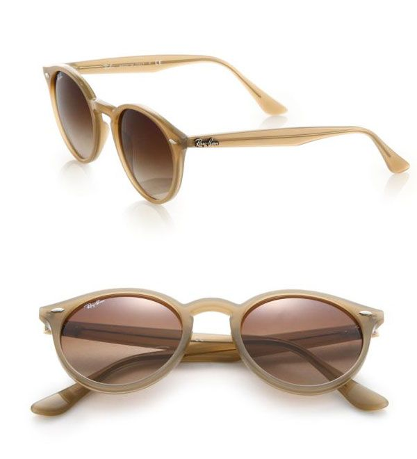 Ray-Ban 49MM Round Sunglasses Beige                     $49.00