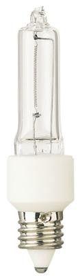 40 Watt Halogen Krypton/Xenon T3 Single-Ended Light Bulb, 2800K Clear Mini-Can Base, 120 Volt, Card