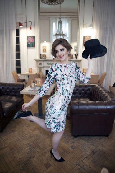 rochie cu paiete Blumarine, rochie de Revelion, rochie de cocktail | Zâna Boemă
