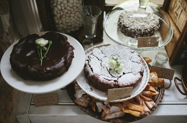 I think I'd like my cake table to look something like this + crostoli. That would be easy - pick up a few packs from Habberfield